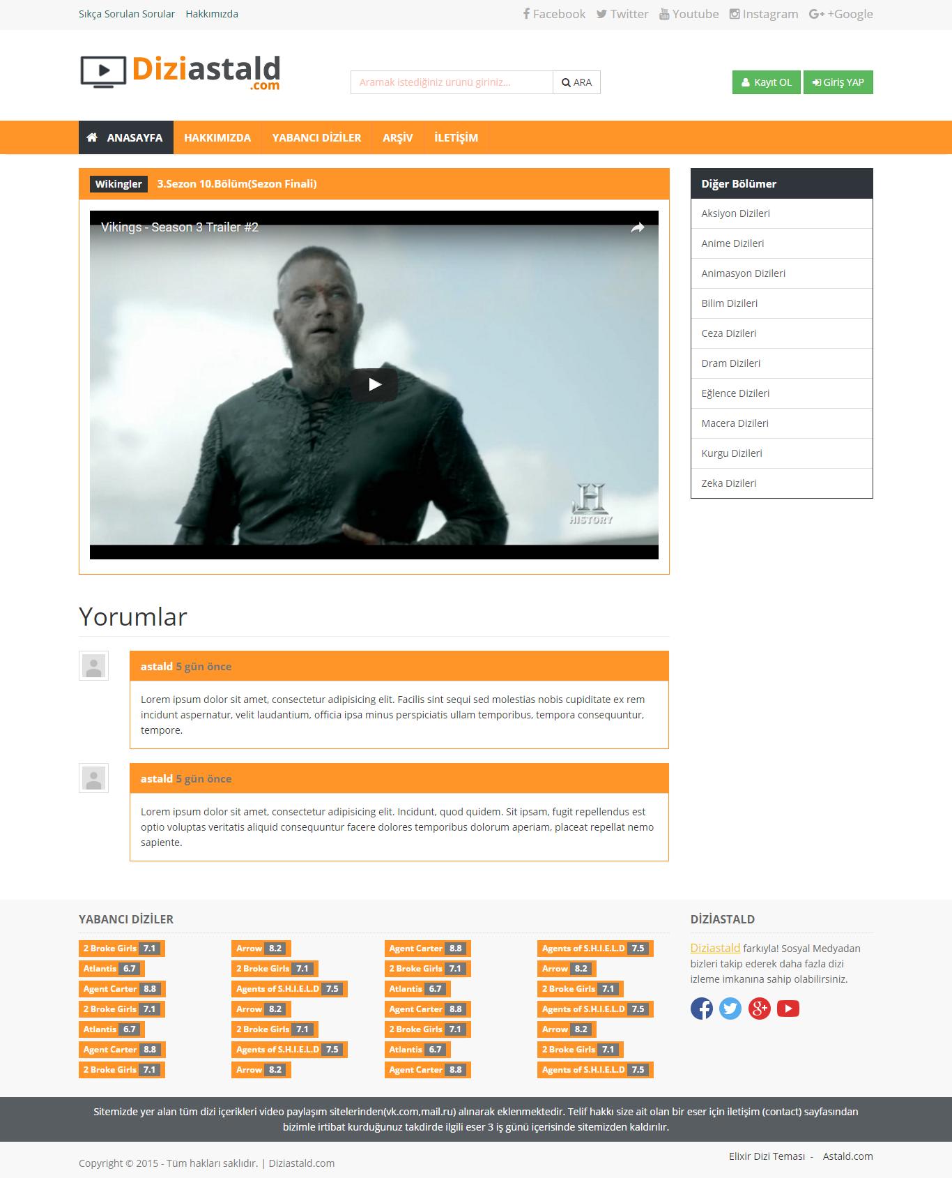 html-dizi-temasi-sablonu