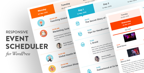Event Scheduler Responsive WordPress Tema Ücretsiz